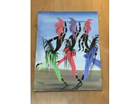 Oil on canvas African paint