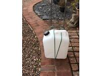 Large camping water container and trolley