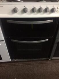 White royal 60cm gas cooker grill & double ovens good condition with guarantee