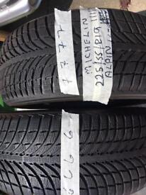 5 x Michelin tyres 225/55/19 R111v 3 Lattitude Hp 2 ALPIN OFFERS PICK UP ONLY