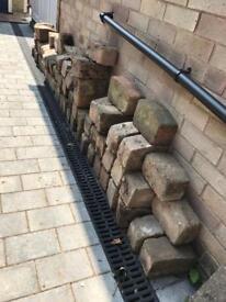 Block paving edging blocks