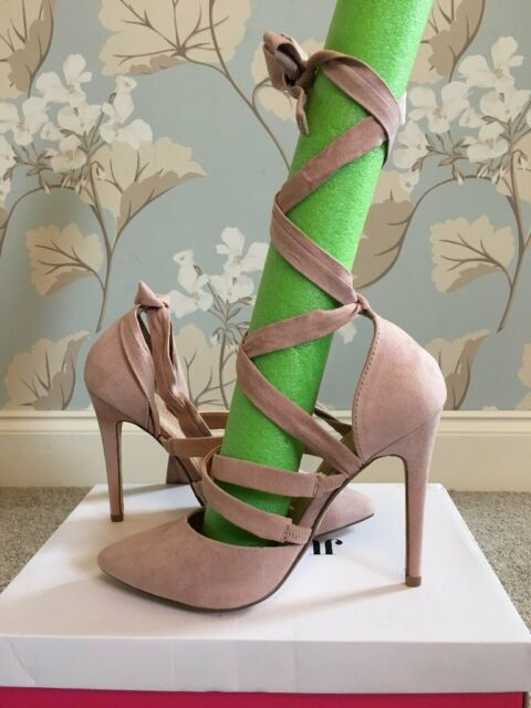 1a3f18dc9ba BNWT Size 5 Dusty pink stiletto high heels with ballerina style wrap around  / lace up detail | in Borehamwood, Hertfordshire | Gumtree