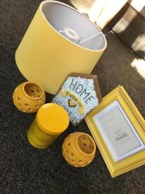 Yellow home accessories bundle