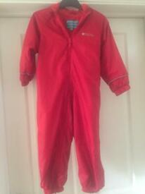 Fleece lined RAIN SUIT