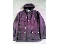 Fablic coat with hood like new