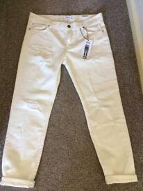 Mango ripped relaxed jeans size 10 BNWT