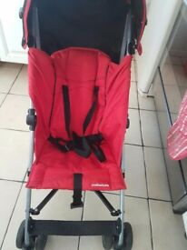 Red Mothercare buggy.Nice and clean. Ideal for Grandmas house. £20