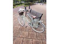 LADIES dutch style hybrid bike in sage green, Kingston, 19inch frame, free helmet and rope lock