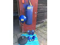 BBE Junior Punch Bag, pads, gloves and punch ball plus hook