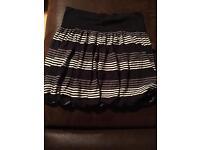 Grey striped skirt size 8