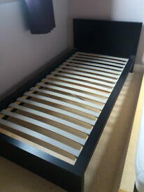 IKEA MALM single bedframe in black