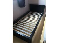 IKEA MALM single bedframe in black