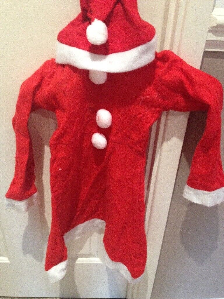 childs Mrs santa xmas outfit 3-5 years