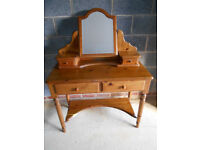 Ducal pine dressing table and mirror