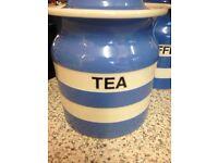 Cornishware Storage Jars-Tea, Coffee and Sugar