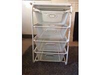 IKEA White 4 Drawers with sturdy wire mesh baskets