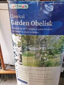 Garden metal obelisk 2 meters high still in box