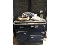 Esse Oil fired cooker. Royal blue