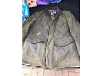 Barbour jacket green wax