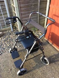 Second hand Rollator and transit chair combination