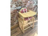 Baby Weavers Solid Rubber Wood High Chair