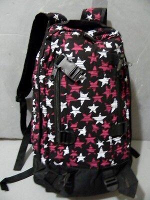 Black Pink White Stars Backpack Book bag School Bag Punk Rock Style NEW for sale  Glen Spey