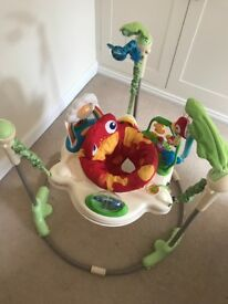 Rainforest Jumperoo by fisher price - excellent condition