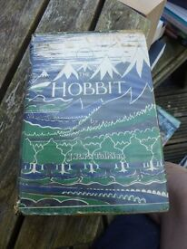 Rare collectible old Book The Hobbit (1959) J R R Tolkien, The Hobbit or There and Back Again,