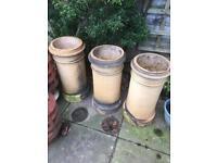 Reclaimed cream chimney pot
