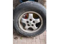 """16"""" Land Rover Discovery Alloy Wheel with tyre"""