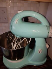 Ekectric food mixer and scales. Rarely used. Turqouise green colour