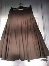x 2 full circle skirts - size 8 and 10 - length: just below the knee