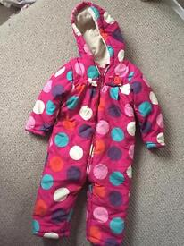 Various snow suits/pram suits 3-6 and 9-12