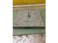 Granite garden base for outside use