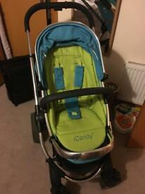 I candy peach travel system in sweet pea