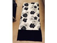 House of Fraser Black&cream lined curtains