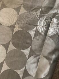 Beautiful grey / silver curtains