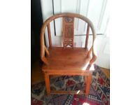 Antique 18th or 19th century beautifully carved Chinese arm chair