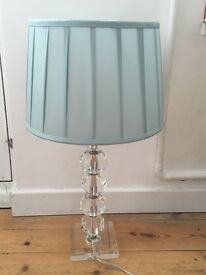 John Lewis crystal lamp base with shade