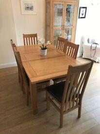 Solid Oak Dining room set