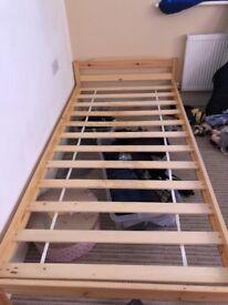 2 x pine beds £10 each