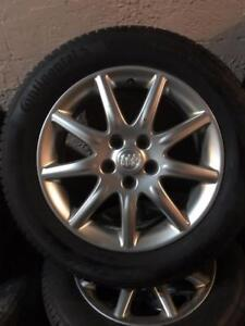 235  55 17 CONTINENTAL TRUE CONTACT ECO PLUS TECHNOLOGY ALL SEASON TIRES ON BUICK RIMS WITH SENSORS DOT 2016 10/32 TREAD