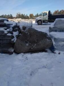 Granite boulders! Limestone rocks! Hard and big stones to stop a wayward vehicle on a lawn. Delivery 100+ km from Barrie