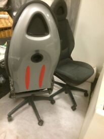 Two Office chairs. modified from Smart car seats