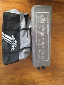 Hauck travel cot- £20- grey and black - hardly used.