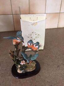 coalport 4 blue tit figurine