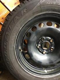 Vw Tiguan steel wheel and tyre