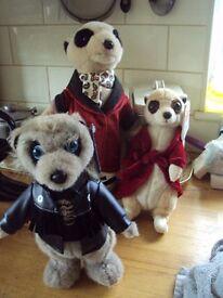 meerkat toys x 3