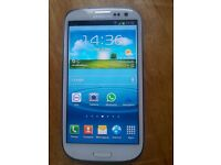 SAMSUNG GALAXY SIII, White Color 16gb, Unlocked V.Good Condition