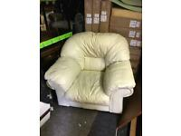 Free Cream leather armchair